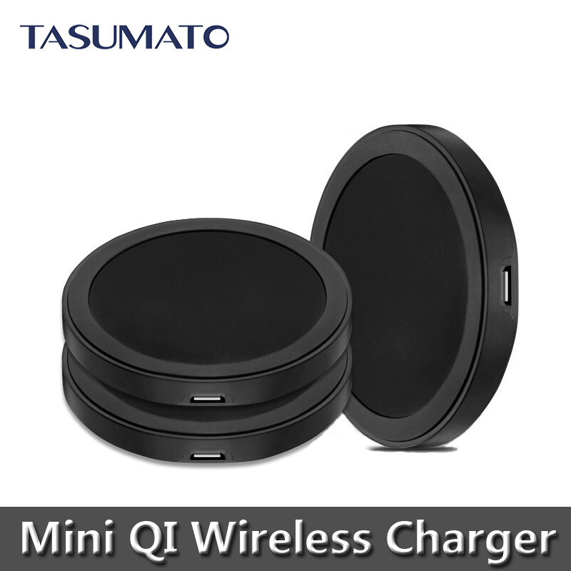 Mini Black Round Qi Wireless Charger Charging Pad Nokia Lumia 1020 930 920 Nexus 5 6 7 - Smart Zone store