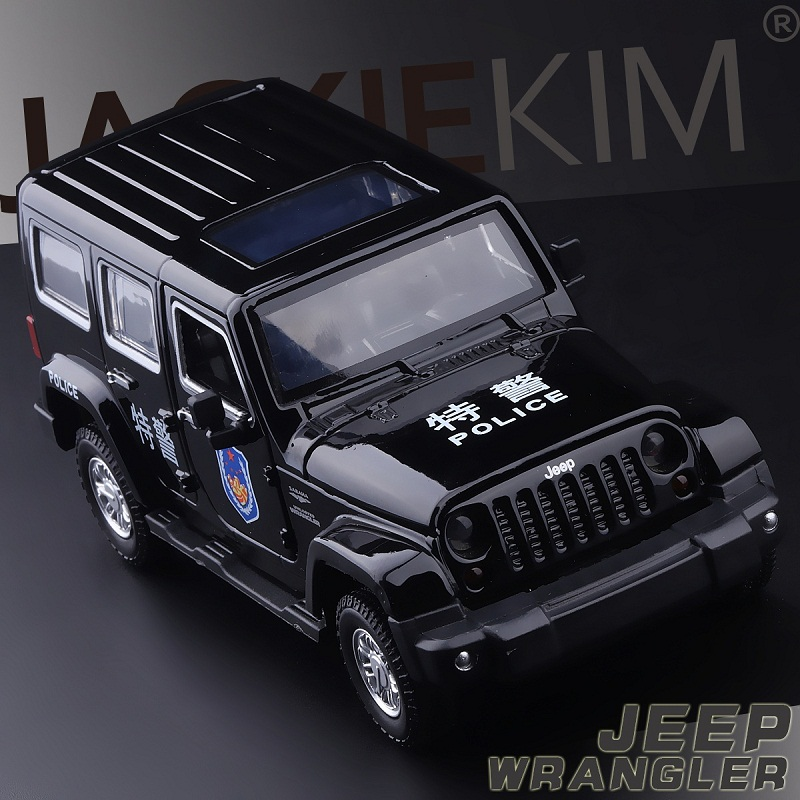 High Simulation Exquisite Collection Baby Toys: CaiPo Car Styling Jeep Wrangler Police CCar 1:32 Alloy SUV Car Model Best Gifts(China (Mainland))