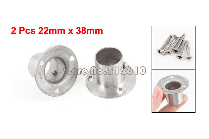 2 Pcs 22mm x 29mm Stainless Steel Clothes Lever Socket Pipe Weld Neck Flange(China (Mainland))