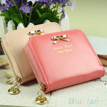 Hot Fashion Women's Mini Faux Leather Lady Purse Wallet Card Holders Handbag coin bag 1GDT(China (Mainland))