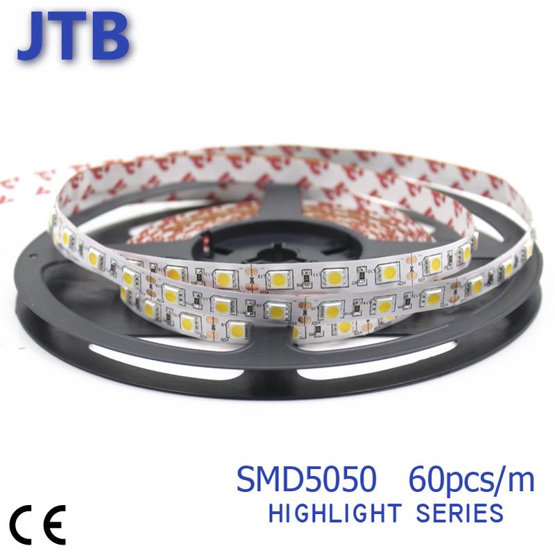 SMD5050 300Leds LED High Brightness Strip 5m Non Waterproof House Lighting Flexible Strips 60pcs/m DC12V Home Office LED Strip(China (Mainland))