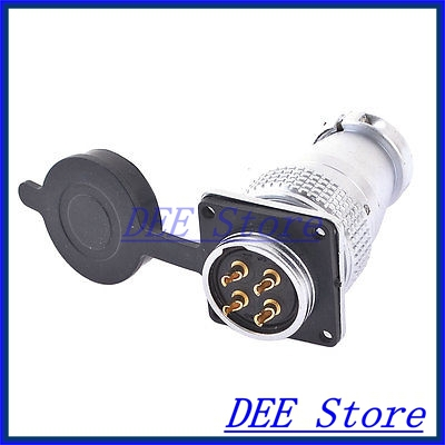 AC 400V 25A 4 Pin Electric Deck Aviation Connector Adapter Plug Y28-4<br><br>Aliexpress