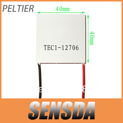 Wholesale!TEC Peltier Module TEC1-12706 Thermoelectric Cooler Cooling Plate 12V 40mmx40mm(China (Mainland))