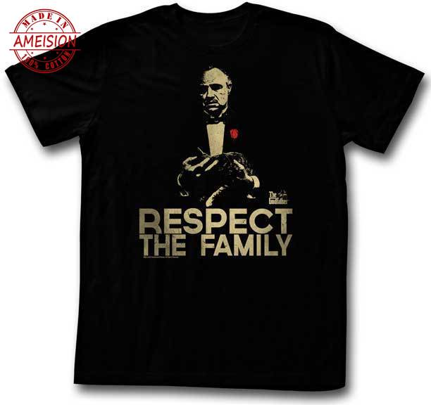 The Godfather Respect The Family Adult T Shirt Classic Gangster Movie Printed T-Shirt New fashion funny Tops Tee shirt