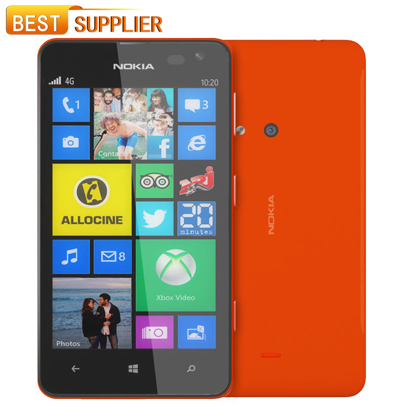 2016 Rushed Hot Sale 1080p Color Slim(9mm-10mm) Unlocked Nokia Lumia 625 Mobile Phone Qualcom Dual Core 512mb Ram 8gb Rom phone(China (Mainland))