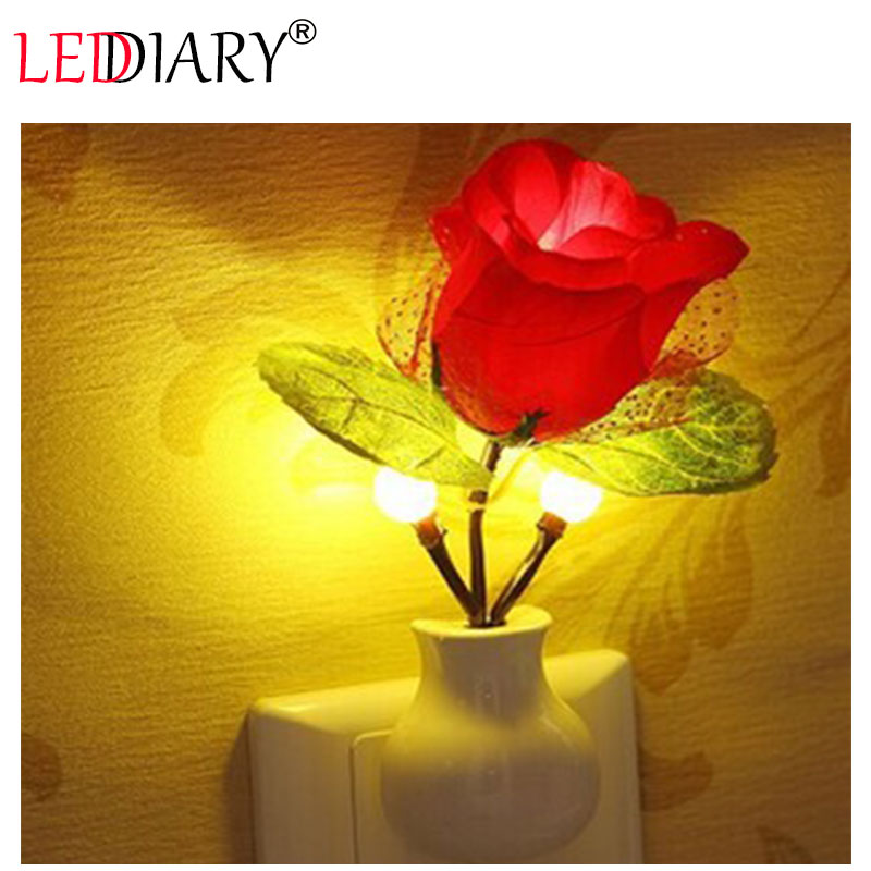 LED colorful night light/lamp LED light sensor control romantic love rose light US plug baby bedside110-240v for decoration/gift<br><br>Aliexpress