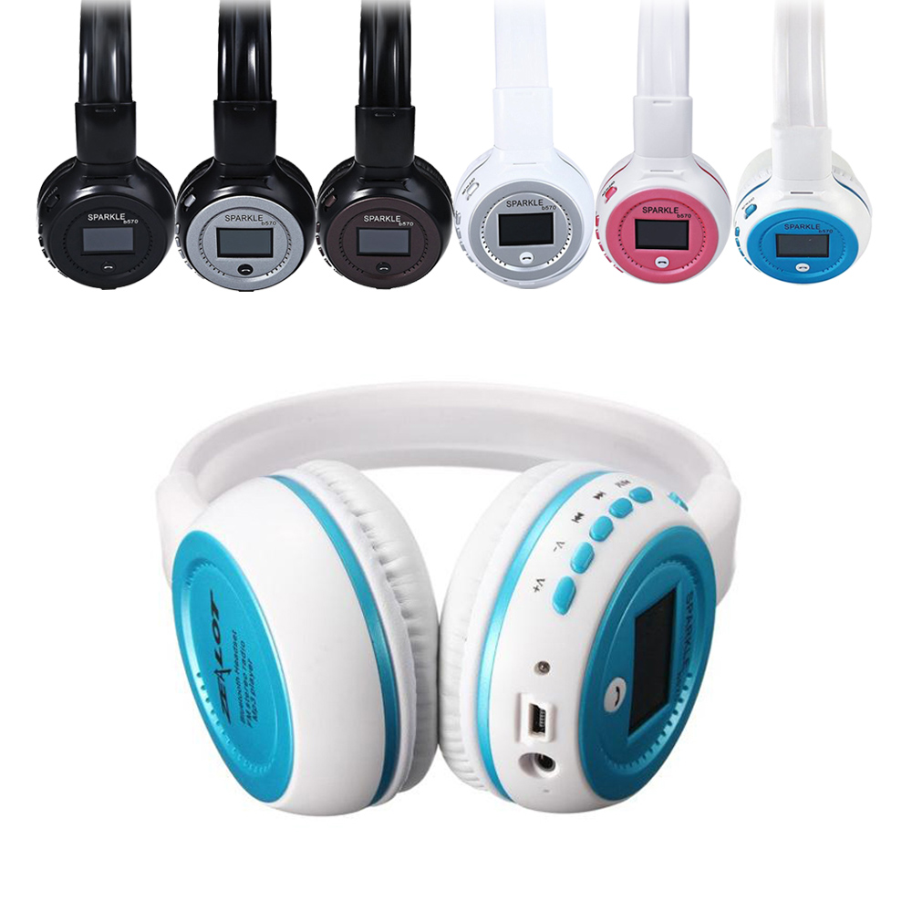 B570 Bluetooth Headset Headphones With LCD Screen & Mic FM Radio Mode For Android/IOS Smartphone xiaomi iphone Samsung PC