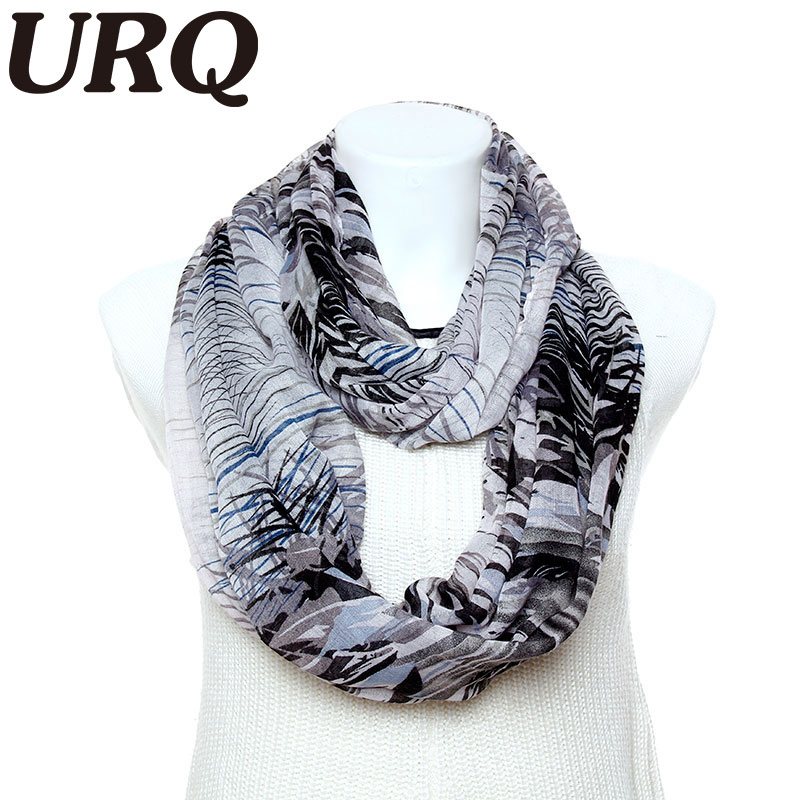 2016 Winter Infinity scarves 01pc Cute Colorful Spring Printed Womens Tube scarves Wrap V9A18225(China (Mainland))
