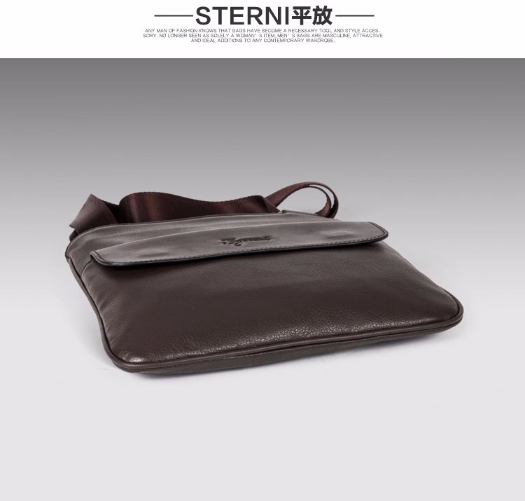 Free Shipping [2 Colors] Genuine Leather  Men Messenger Bags, Genuine Leather Bags,   Fashion Men Bags #1051