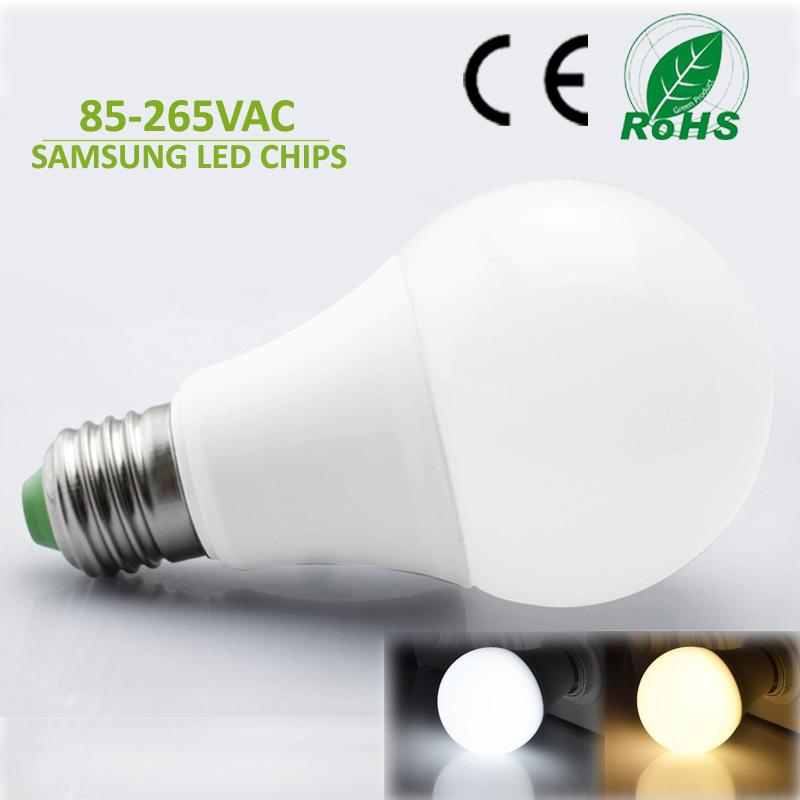 Top quality Lampada led lamp E27 led bulb 220V 110V 3W 5W 7W 9W 12W 15W HighBright white warm white led light bulb Free Shipping(China (Mainland))
