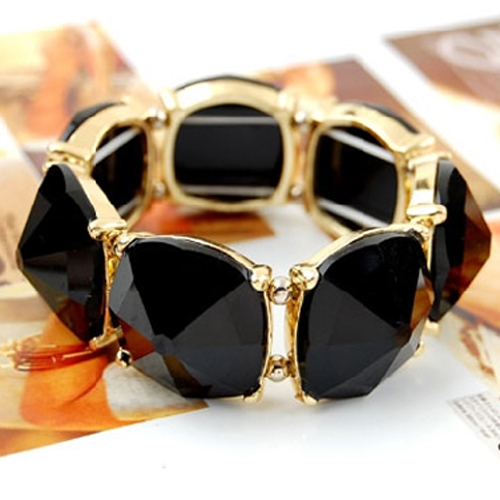 2013 Hot wholesale candy color resin street style Stretch Bracelet