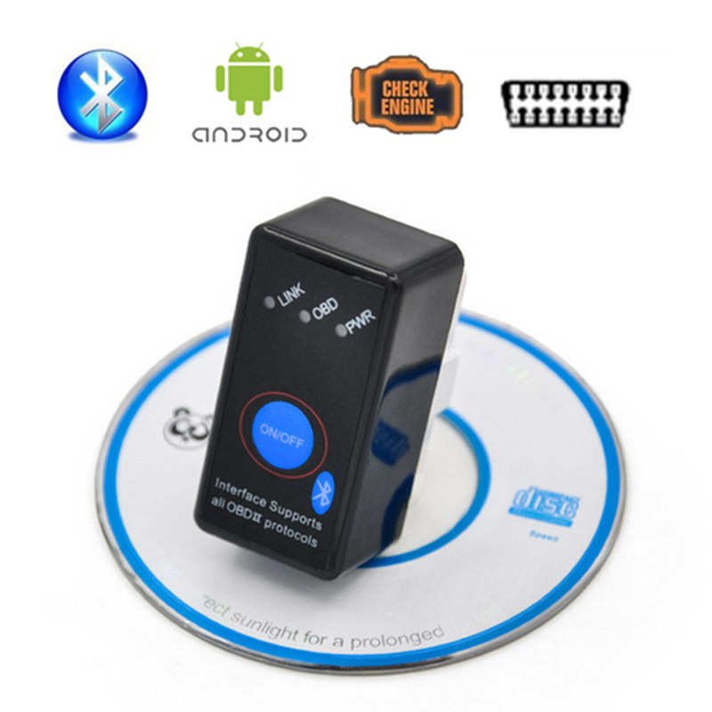 Elm327 Bluetooth Switch OBDII Professional Diagnostic Tool ELM 327 OBD2 Car Diagnostic Scanner Work on Android Symbian Windows(China (Mainland))