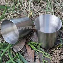 High Quality 1 Pieces 30ml Cups Set Stainless Steel Cups Wine Beer Whiskey Mugs Outdoor Travel Cup(China (Mainland))