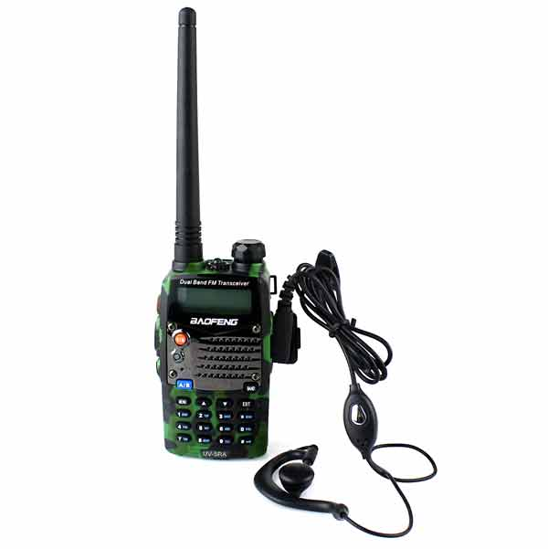 New Camouflage Green BaoFeng UV-5RA Walkie Talkie 5W 128CH UHF + VHF DTMF VOX Dual Band Dual Frequency Two Way Radio A0888M(China (Mainland))