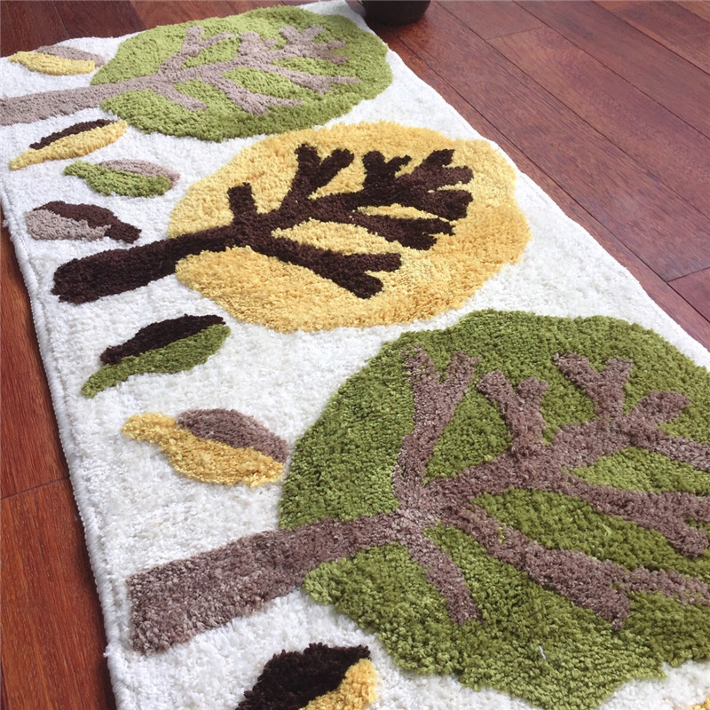 Free Shipping 2016 hot sale lovely tree Mat/Rug/Pad Chair Table Cartoon Mat Home Carpet/Mat 45*120cm(China (Mainland))