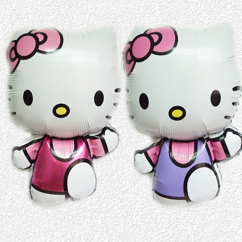 5pc/lot Hello Kitty Foil Balloon Float air balls baloons Wedding birthday party decoration Kids Inflatable Toy Free Shipping(China (Mainland))