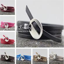 Venda quente moda 85 CM LOW0206LB envoltório encantos pulseiras para mulheres homens mulheres de couro PU macho frete grátis