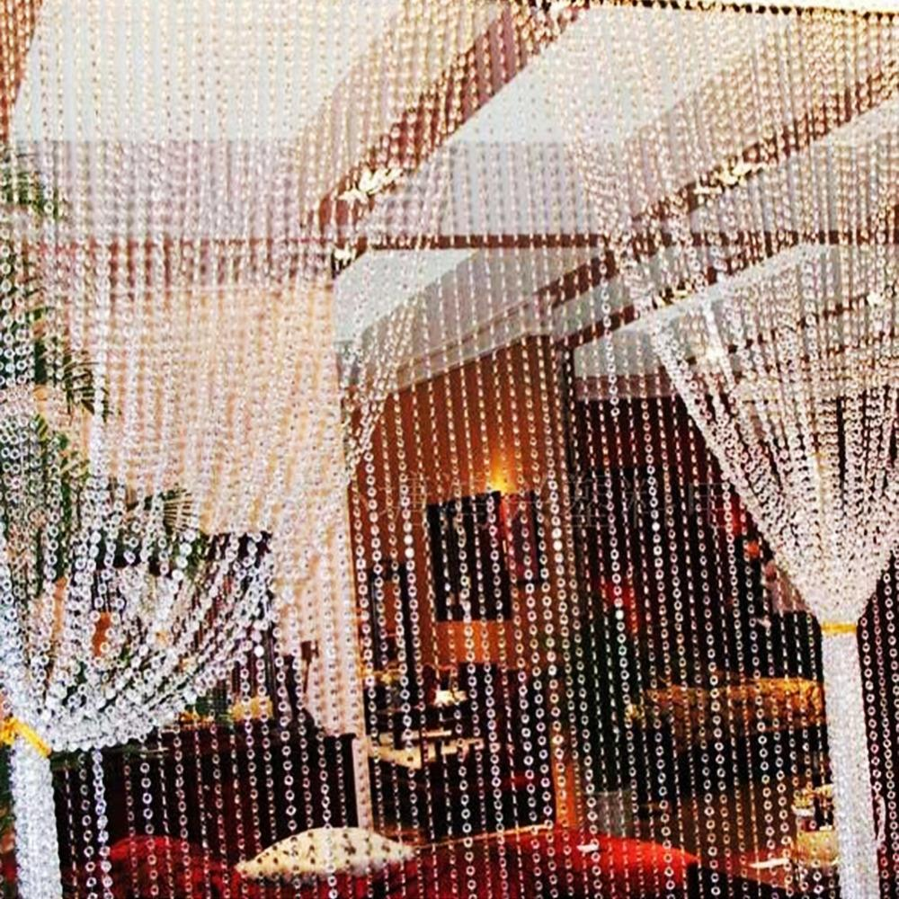30 Meters Glass Crystal Beads Curtain Window Door Crystal Curtain Living Room Passage Wedding