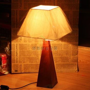 comfortable art designed hotel Wool table lamp, the brasen trapezoidal brief study lamp home decoration freeshipping