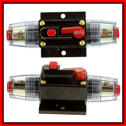 Car Truck Marine Audio 60A Amplifier Circuit breaker fuse holder AGUstyle 12V(China (Mainland))