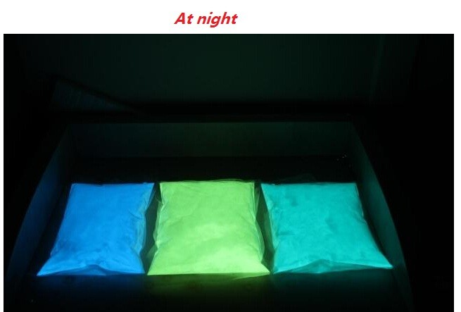 3kg packing luminous powder glowing powder glow in dark pigment photoluminescent pigment  water-resistant grade long afterglow