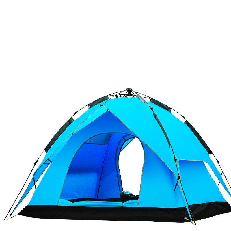 Outdoor tent 3-4 civil air defense rain camping tent outdoor tent double automatic tent
