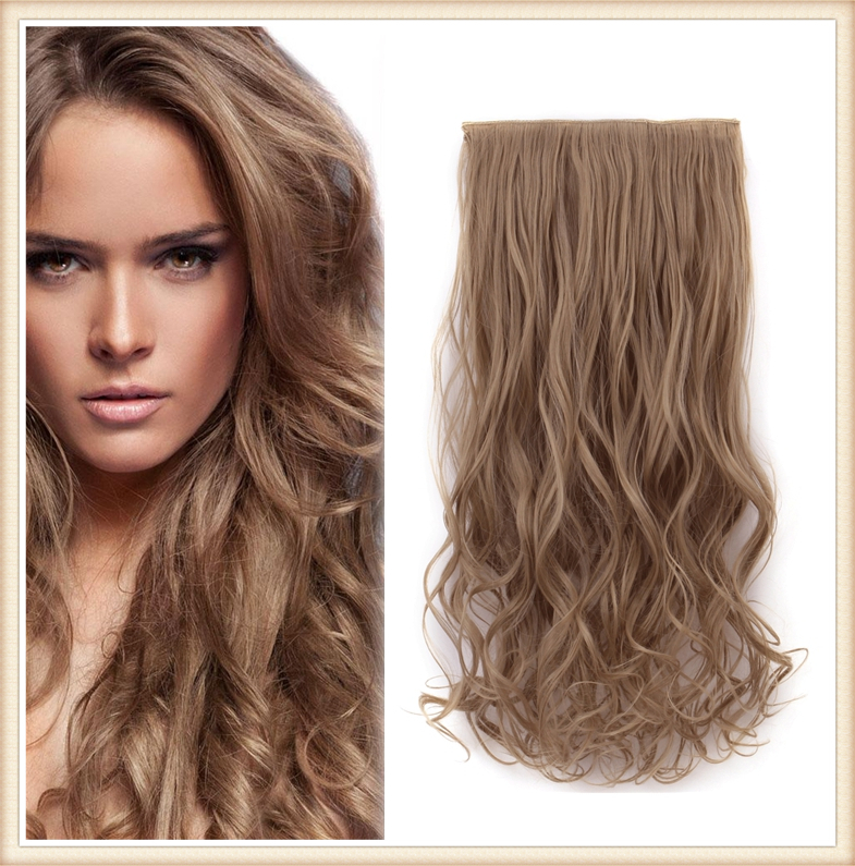 Good Quality 1pcs/lot 20inch 50cm 130g 5 Clips cabelo fibra japonesa One Piece Full Head Blonde Hair Extension Party Gifts 888<br><br>Aliexpress