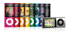Slim 4th gen TFT LCD 64gb mp3 player Music playing earphone as gifts fm radio video player 9 Colors for choose Freeshipping(China (Mainland))