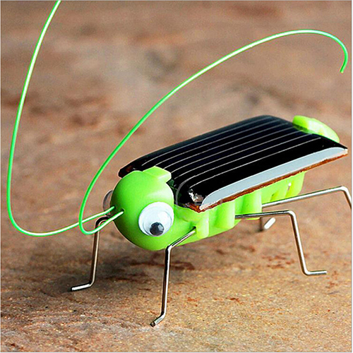 Kids Solar Toys Energy Crazy Grasshopper Cricket Kit Toy Yellow and Green Solar Power Robot Insect Bug Locust Grasshopper(China (Mainland))