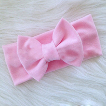 1 pcs new Cute Baby Knot Elasticity Headband baby girls Cotton wide Knot hair band Kids Hair Accessories W193