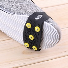 1pair overshoes reusable shoe covers overschoenen Anti Slip Snow Ice Climbing Spikes Grips Crampon Cleats 5-Stud Shoes Cover(China (Mainland))