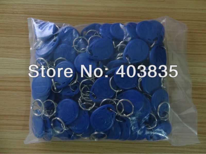 No. 2; 100pcs 125Khz RFID Proximity Keyfobs Ring Access Control Card Rfid Red Yellow Blue Tags