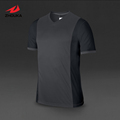 V neck Adult Kids Sublimation Custom Soccer Tshirt 100 polyester top quality accept small quantity