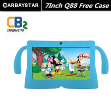 7″ Tablet PC Android 4.42 Google A33 Quad Core 1GB+8GB WiFi Dual Camera 7 Inch Q8 Q88 Tablets PCFree Gift  Baby Style Case