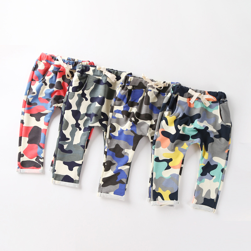 New Fashion Children's Clothing 2015 Kids Boy Gilrs Camouflage Long PP Harem Pants Children's Sport Camo Cargo Trousers(China (Mainland))