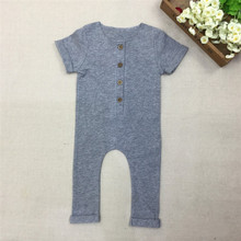 #34# 2016 Fashion Baby Girls Boys Cotton Romper Newborn Summer Jumpsuit Infant Pajamas(China (Mainland))