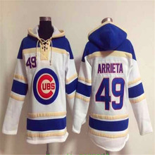Mens Chicagos 17 Kris Bryant 49 Jake Arrieta 12 Kyle Schwarber Red Retro Home Road Stitched Long sleeve Hoodie Baseball Jersey(China (Mainland))