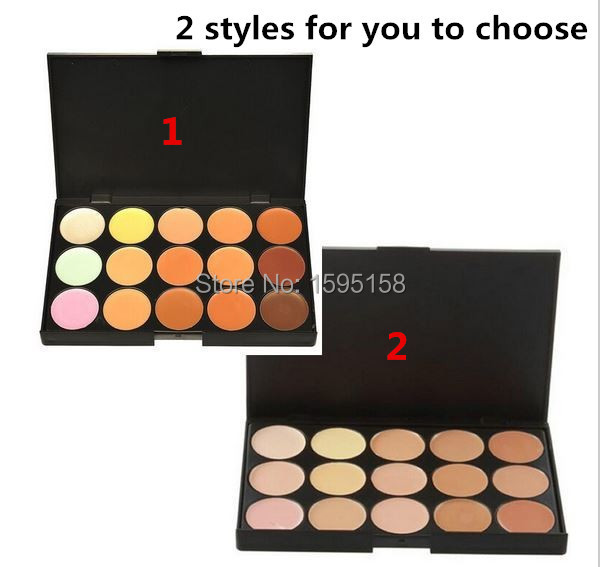 FREE Shipping 2 style 15 colors MC Concealer Special Professional 15 Color Facial Face Cream Care