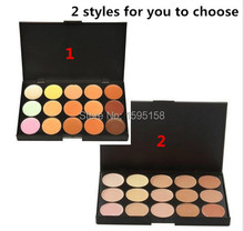 FREE Shipping 2 style 15 colors MC Concealer Special Professional 15 Color Facial Face Cream Care Camouflage Makeup base Palette