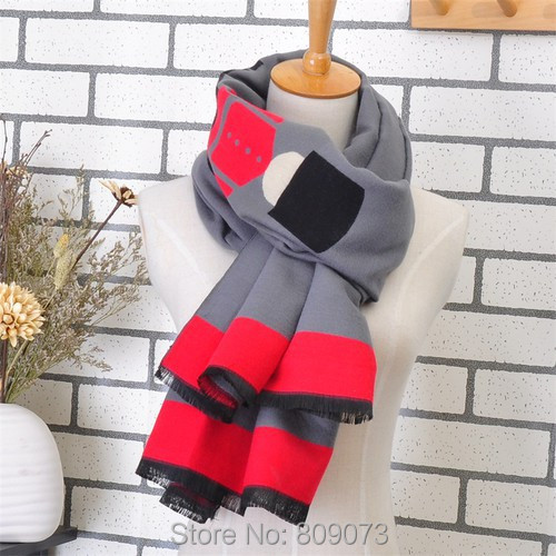 2015 Korean Style Lady's Robot Character Pattern Tassel Crochet Scarf Long Fashion Shawl Cashmere Scarves Women - Shenzhen Sundah Tech Co., Ltd.(Craft & Gift Dept. store)