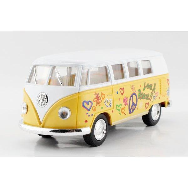 Children Kinsmart 1962 Volkswagen Printing Classic Bus Model Car 1:32 KD7005 5inch Diecast Alloy Cars Toy Pull Back Gift(China (Mainland))