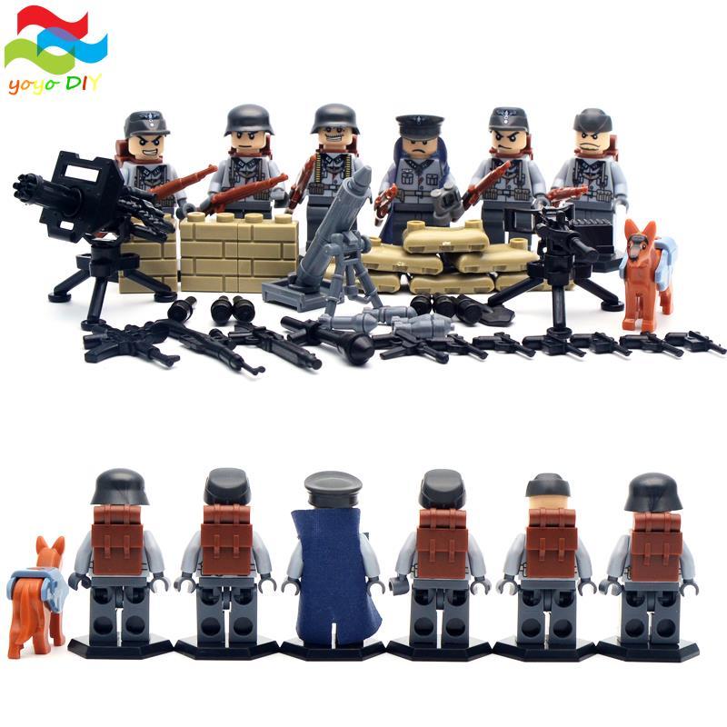 Гаджет  6 pcs/lot SWAT World War II Troops military Kid Baby Toy Mini Figure Building Blocks Sets Model Minifigures Collection Brick None Игрушки и Хобби
