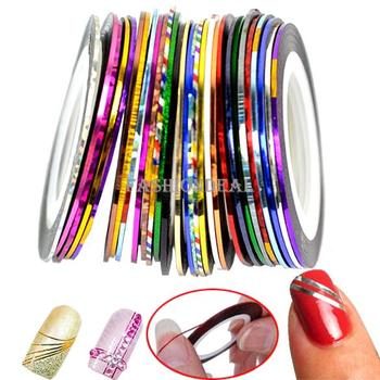 300 Rolls x 3D Design 2013 Fashion Striping Tape Line Nail Art Sticker Decal Manicure Mixed Colors Free Shipping 36