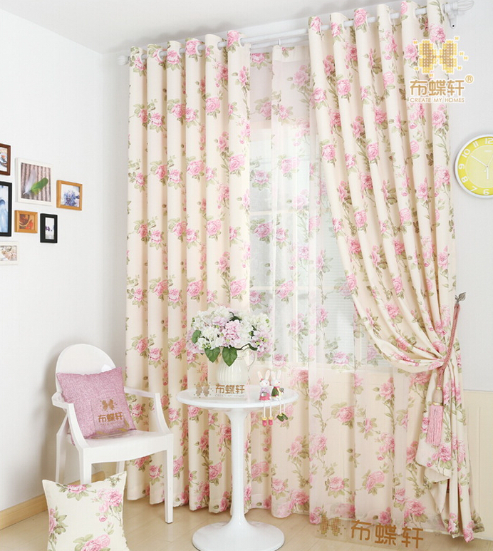 Curtain rustic fabric lily bedroom living kids children for Childrens bedroom curtain fabric