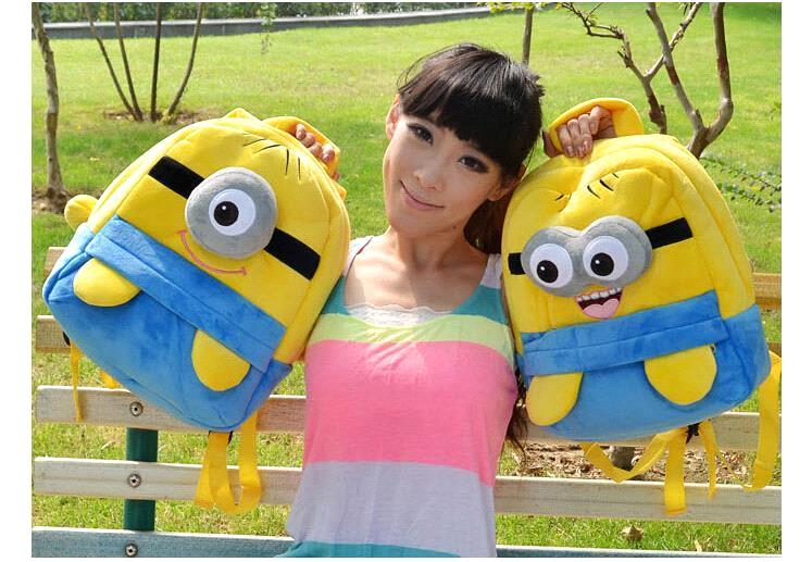 Free Shipping Despicable Me Minion Backpack School Bag Children Mochila Infantil Kids Backpacks Shoulder Bag Gift(China (Mainland))