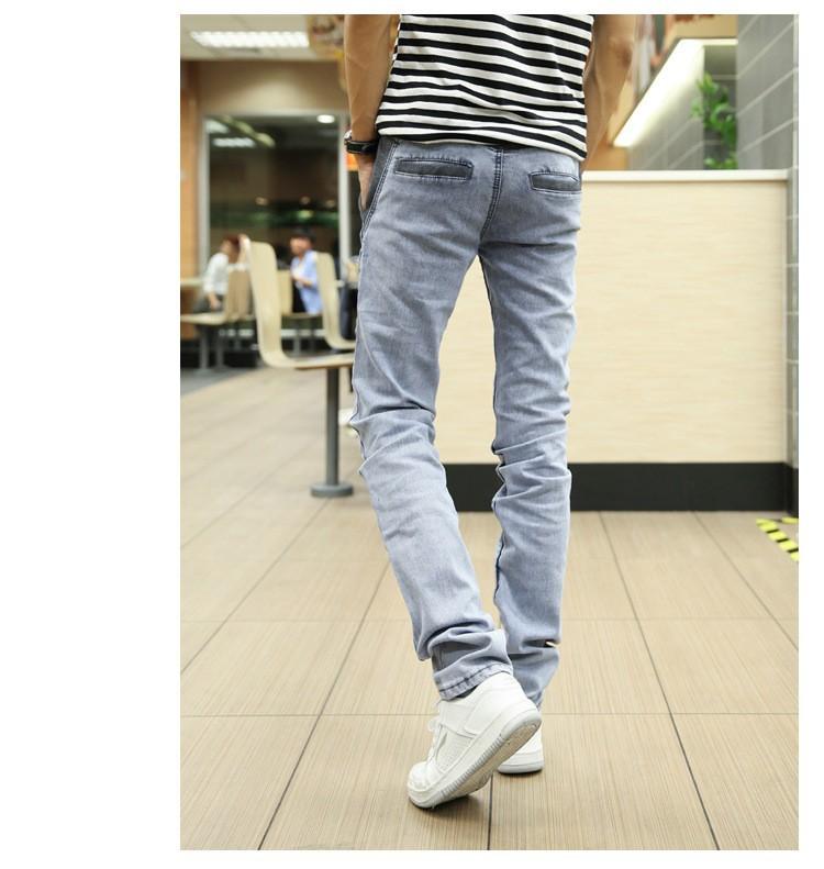 Скидки на 2015 новый осень стиль эластичный пояс с завязками, джинсы для мужчин, гарем брюки карандаш повседневные брюки большой размер W28 W38 к
