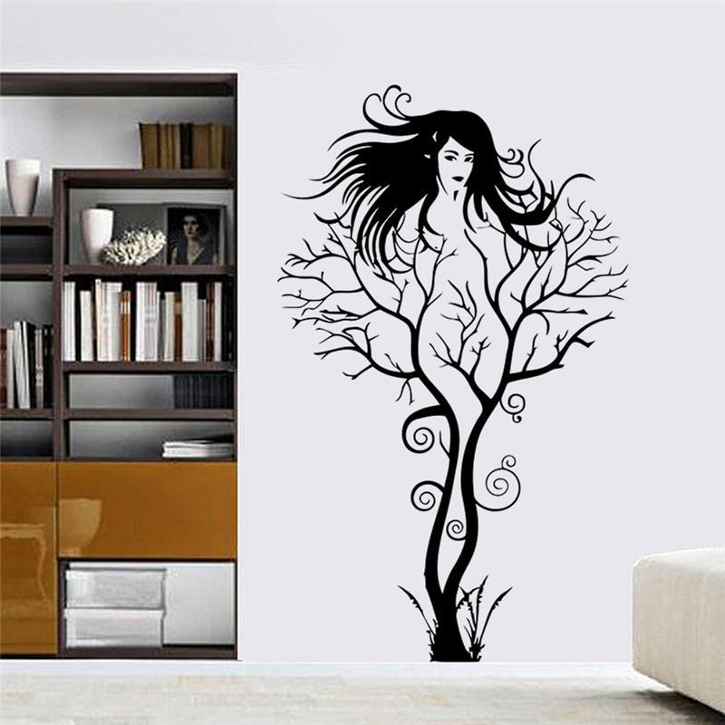 Buy sexy girl wall stickers office living room decoration zo - Stickers et decoration ...