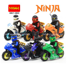 2016 Newest Arrival Ninjagoes Ninja Kai Jay Zane Cole Lloyd Carmadon Tornado Motorcycle Legoes Compatible Minifigures Block - World Educational toy Store store