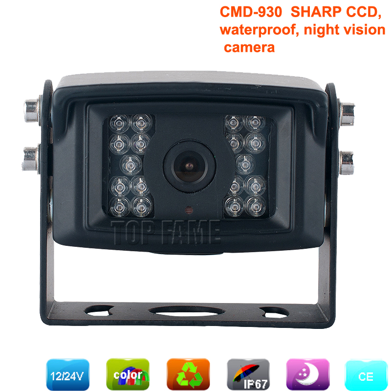 quality first sharp CCD rear view camera with night vision 4pin waterproof ideal for truck/boat/etc. for auto parking assistance(China (Mainland))
