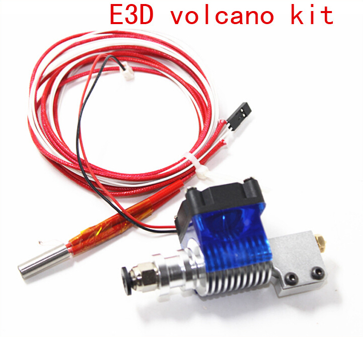 E3D volcano kit- J-head Hotend with Single Cooling Fan of blue for 1.75mm Universal Extruder 0.4mm/0.6mm/0.8/1.0/1.2mm Nozzle(China (Mainland))